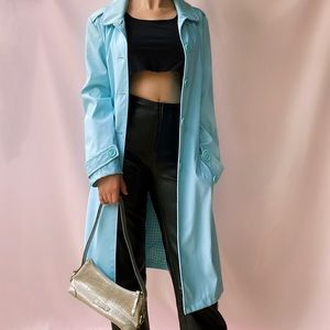 Vintage Baby Blue Trench Coat